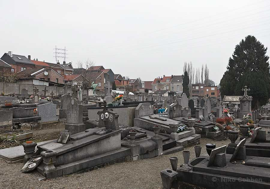 A backyard cemetery